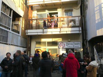 東京・品川区にある「デビルクラフトブルワリー(DevilCraft Brewery)」の外観(その2)