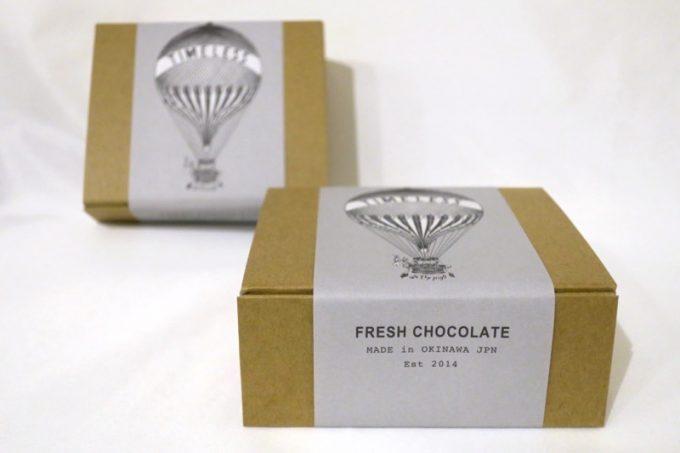 タイムレスチョコレートのアソートボックス(4種8枚入り、1380円)