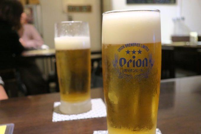「ワイン酒場BOUCHER(ブーシェ)」のビールはオリオンドラフト(400円)だった。