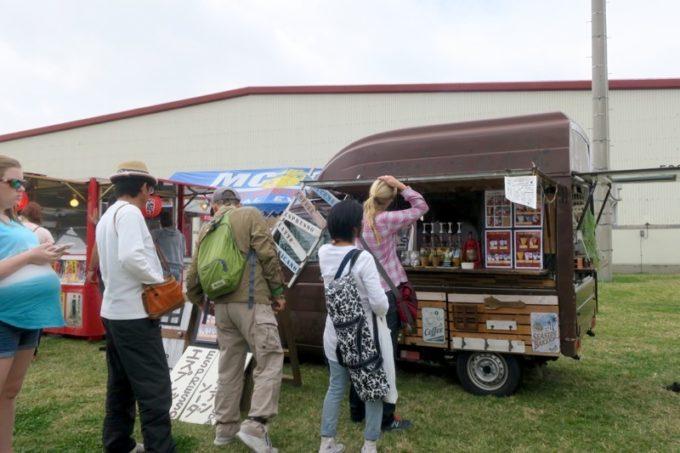 「フードトラックフェア(Food Truck Fair)」にあったコーヒーの移動販売車。