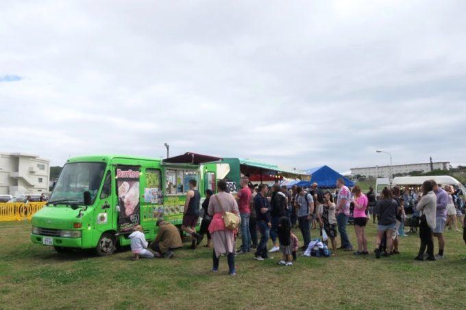「フードトラックフェア(Food Truck Fair)」にあったブリトーの移動販売車。