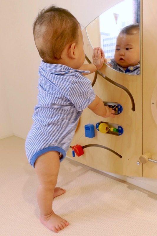指先のトレーニングになりそうなおもちゃで集中して遊ぶ。