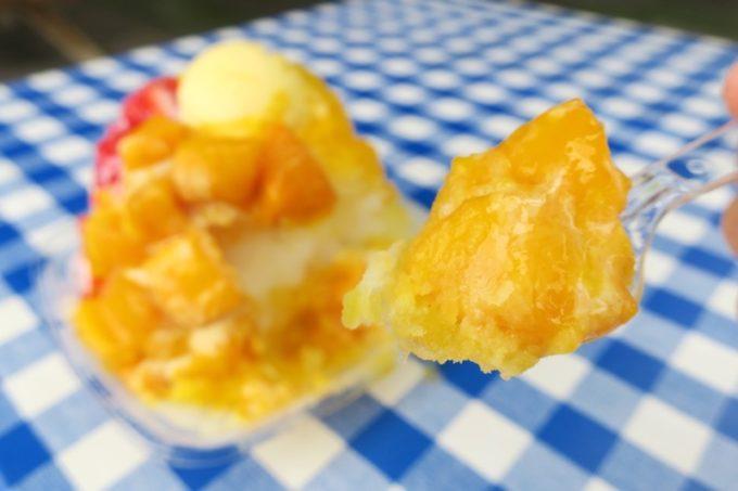 季節外れのため、マンゴーは冷凍品だがめちゃくちゃウマい!