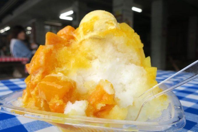 アイスマウンテン(かき氷)というだけあって、大盛り。食後、体がひんやりする。