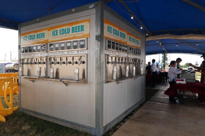 「キャンプキンザーフェスティバル」で見たクラフトビールのセルフサーバー(2019年10月)