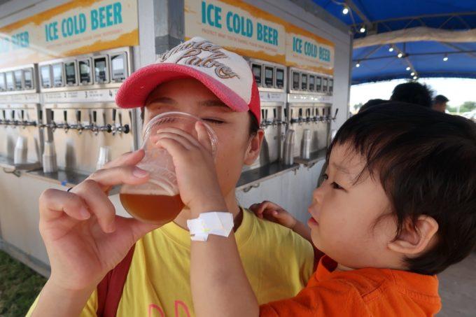 「キャンプキンザーフェスティバル」お子サマーにビールを強要された。