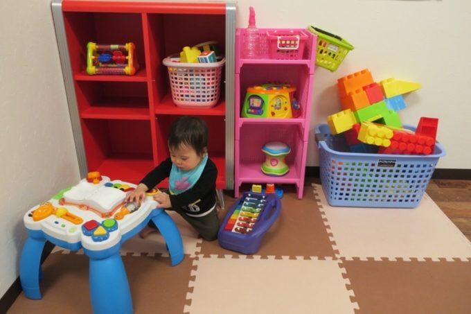 はいはいキッズ(18ヶ月)向けのおもちゃが置いてあった。