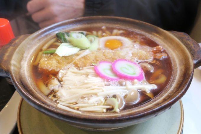 木古内「軽食喫茶CoCo(ココ)」鍋焼きうどん(750円)