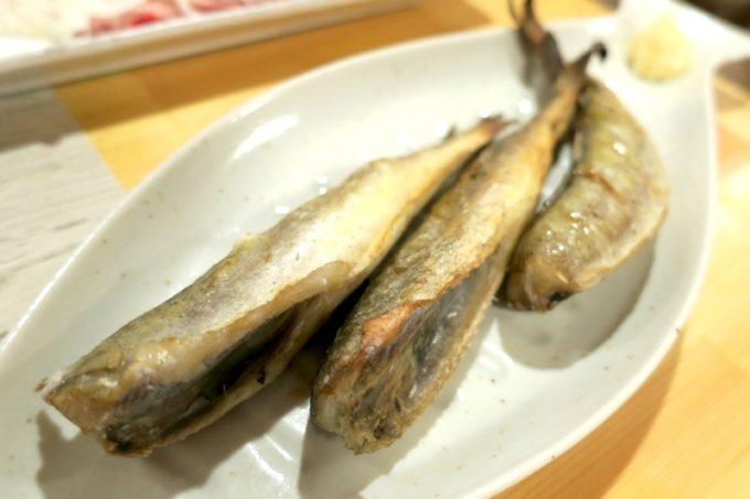函館・大門「遊魚舟」こまい焼き(700円)
