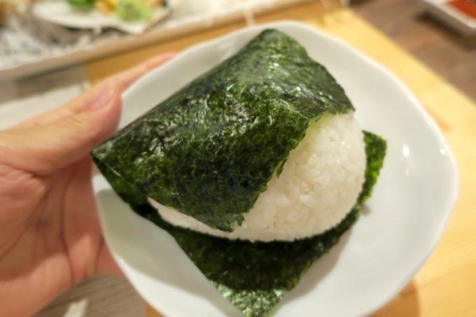 函館・大門「遊魚舟」すじこおむすび(500円)