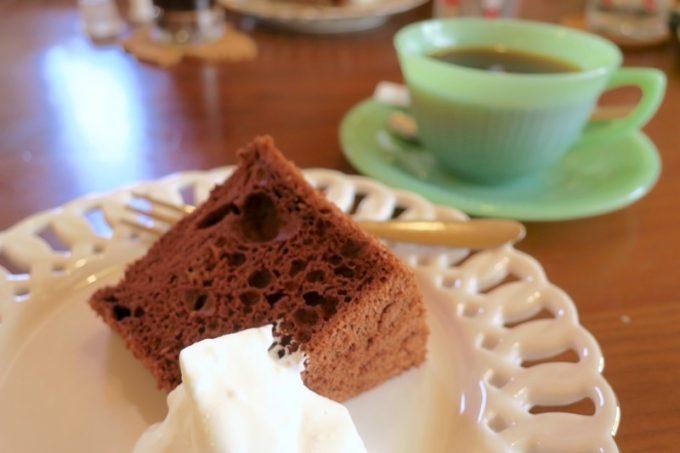 「カフェレストラン ShiShi(シシ)」のランチにはデザートとドリンクがついてくる。