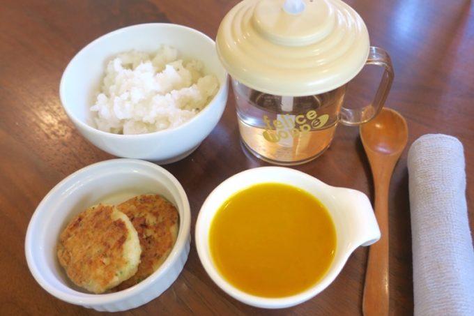 「カフェレストラン ShiShi(シシ)」の離乳食(後期向け、300円)