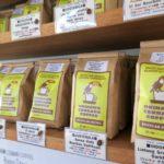 「沖縄セラードコーヒー」では、袋売りのコーヒー豆を販売している(その2)。