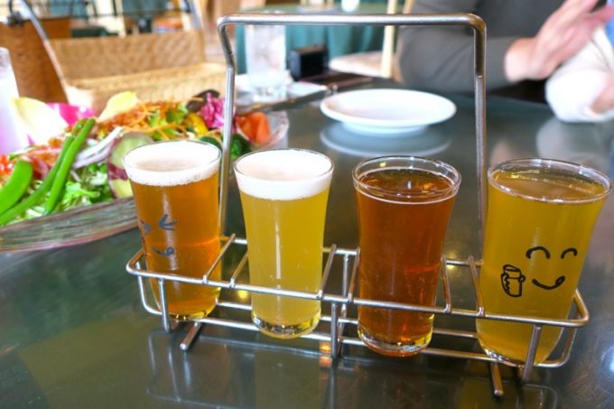 山口地ビールの選べる4種テイスティングセット(870円)