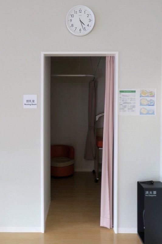 函館アリーナ「キッズルーム」にある授乳室。