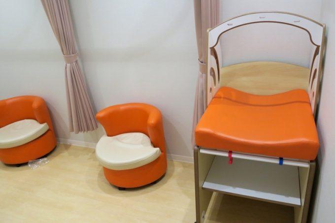 函館アリーナ「キッズルーム」授乳室内部の様子。