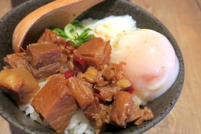 宜野湾「麺恋まうろあ」のサイドメニュー、チャーシュー丼(350円)