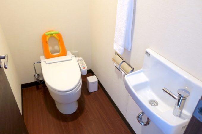 糸満「サザンビーチホテル&リゾート沖縄」9階のプレミアムクラブ・オーシャン・グランデのトイレ。