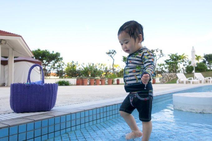 糸満「サザンビーチホテル&リゾート沖縄」のガーデンプールでお子サマーを遊ばせてみた。