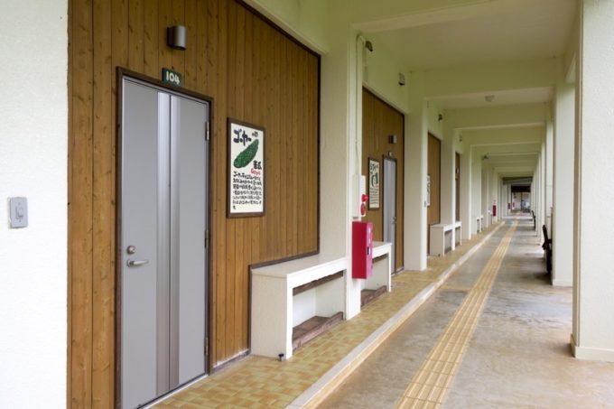 沖縄・今帰仁「あいあいファーム」の校舎跡にできた宿泊棟。