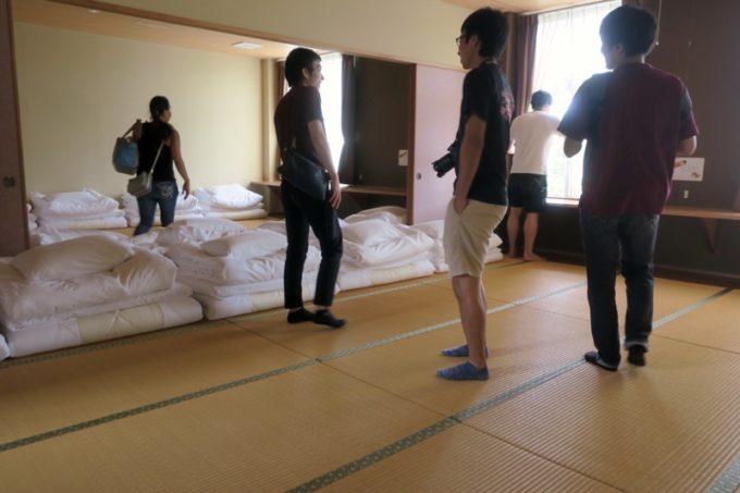 沖縄・今帰仁「あいあいファーム」の団体部屋。