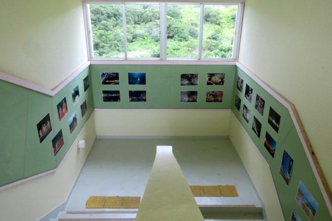 沖縄・今帰仁「あいあいファーム」の階段は小学校らしさが残っている。