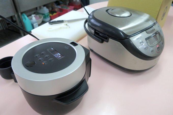 バルミューダの炊飯器と普通の炊飯器でごはん炊き比べ。