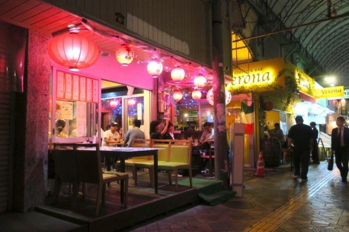 那覇・松尾「餃子の店 華」は牧志公設市場横にある。
