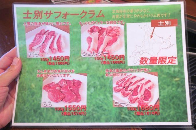 追加のお肉を、と思ったが食べたいものが売り切れていた。