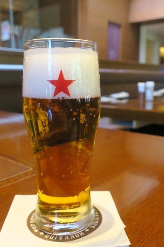 札幌・サッポロビール園「ガーデングリル」開拓使麦酒(ピルスナー、グラス650円)