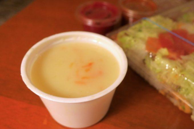 名護「ジャンバルターコー」のクリームスープ(150円)