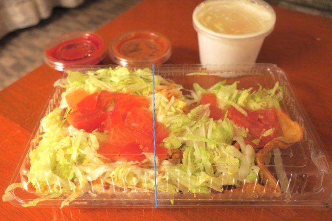 「ジャンバルターコー」のCプレート(730円)と、クリームスープ(150円)ををテイクアウト。