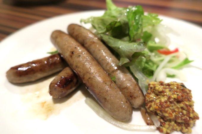 札幌・すすきの「旬菜鮮魚 味和久(みわく)」自家製 塩こうじラムソーセージ