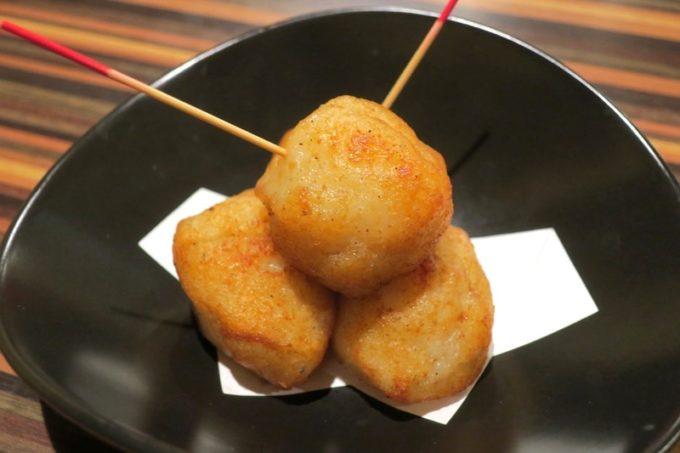 札幌・すすきの「旬菜鮮魚 味和久(みわく)」味和久なかま天(4個、580円)
