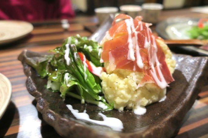 札幌・すすきの「旬菜鮮魚 味和久(みわく)」旨塩ポテトサラダ(680円)
