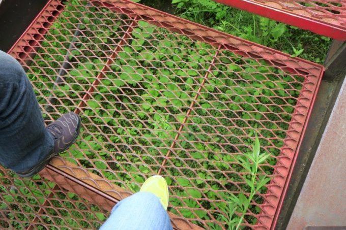 さっぽろばんけいスキー場の階段が網でできていて、懐かしくなった。