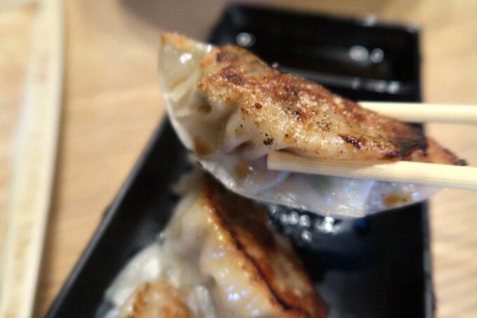 沖縄市「麺家しゅんたく」焼きギョーザ(3個、220円)