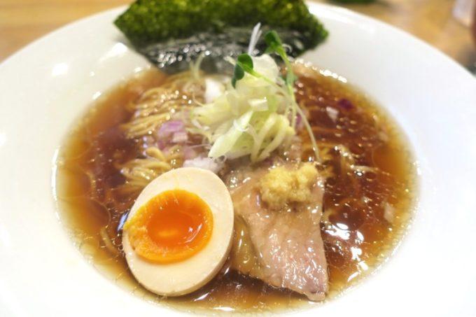 沖縄市「麺家しゅんたく」醤油らーめん鶏清湯(780円)