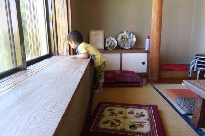 沖縄本島北部・本部町「チャンプルー食堂」で遊ぶお子サマー。