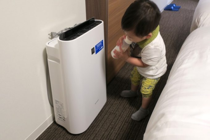 「コンフォートホテル札幌すすきの」の客室設備(空気清浄機)