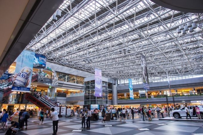 新千歳空港のセンタープラザ周辺写真