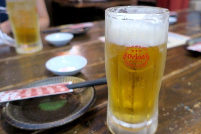 那覇・久茂地「抱瓶(だちびん)」の飲み放題ビールは、オリオンドラフトでした。