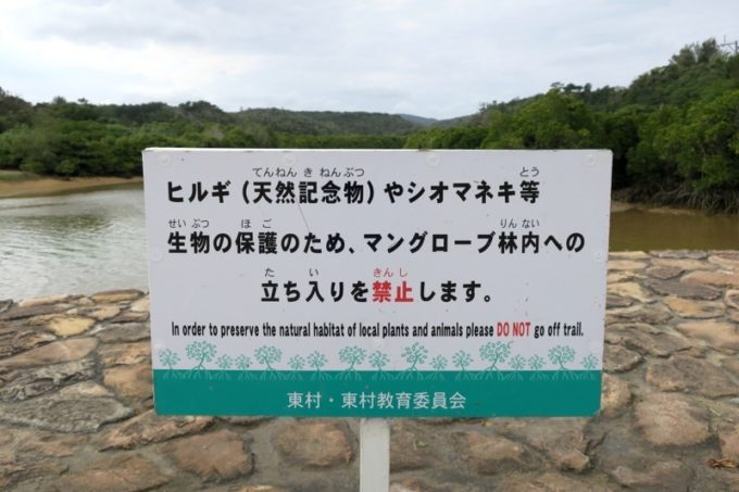 沖縄本島北部・東村の慶佐次湾は、マングローブやシオマネキなどの生態系を守るため、立ち入りが禁止になっている。