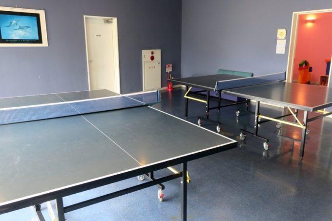 本部町「マリンピアザオキナワ」には無料でできる卓球コーナーがあった。