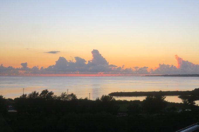 本部町「マリンピアザオキナワ」は西海岸にあるのでサンセットが見える。