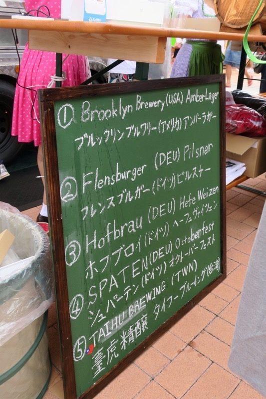 沖縄・北谷「Okinawa Octoberfest 2017(沖縄オクトーバーフェスト2017)」BEER RIZE 2ND AVE(ビアキャラバン)で提供していたビール。