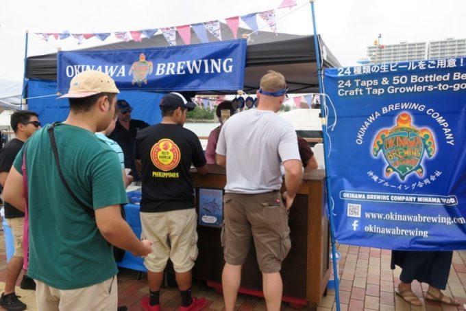 沖縄・北谷「Okinawa Octoberfest 2017(沖縄オクトーバーフェスト2017)」に出店していた沖縄ブルーイング。