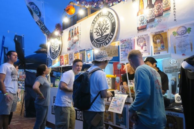 沖縄・北谷「Okinawa Octoberfest 2017(沖縄オクトーバーフェスト2017)」に出店していた沖縄サンゴビール。