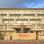 北谷・フィッシャリーナ地区にある「ラ・ジェント・ホテル沖縄北谷」の外観(その2)