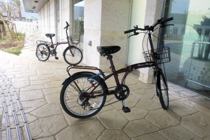 「ラ・ジェント・ホテル沖縄北谷」無料で借りられる自転車(台数に限りあり)